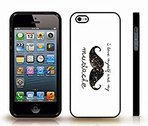 """iStar Cases? iPhone 5/5S Case with """"I don't care"""" Honeybadger, Funny, Black Font, Text Box, Honeybadger Design , Snap-on Cover, Hard Carrying Case (White)"""