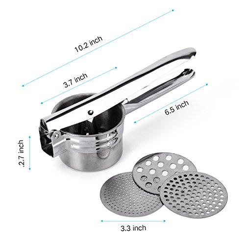 BeautyKitchen Stainless Steel Potato Ricer with 3 Interchangeable Disks by BeautyKitchen (Image #1)'