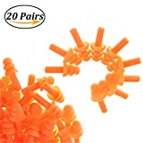 TableRe 20Pack Anti-noise Silicone Ear Plugs