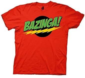 The Big Bang Theory Bazinga! Men's T-shirt (Small, Red Robin)