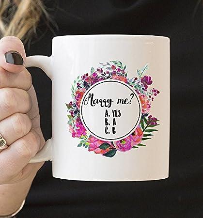 Amazon Com Coffee Mugs For Women Marry Me Mug Funny Mug Couple