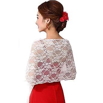 Bridal Wedding Tulle Shrug Bolero Coat Wrap Shawl, White