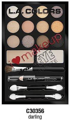 3 Pack) L.A. COLORS I Heart Makeup Drama Eye Palette - Darling: Amazon.es: Belleza