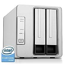TerraMaster F2-220 NAS Drive 2-Bay Intel Dual Core 2.41GHz 2GB RAM PLEX DLNA Media Server Personal Cloud Storage (Diskless)