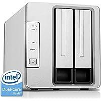 TerraMaster F2-220 2-bay NAS Drive Intel Dual Core 2.41GHz 2GB RAM PLEX DLNA Media Server Personal Cloud Storage (Diskless)