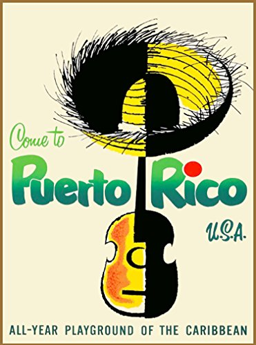 A SLICE IN TIME Come to Puerto Rico U.S.A. - All-Year Playground of the Caribbean Vintage United States Travel Advertisement Art Poster Print. Poster measures 10 x 13.5 inches (Best Time To Travel To Puerto Rico)