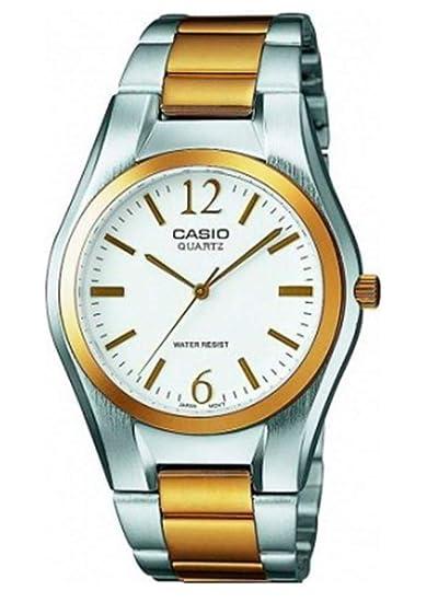 Casio Reloj Analógico para Mujer de Cuarzo con Correa en Acero Inoxidable LTP-1280PSG-7AEF: Amazon.es: Relojes