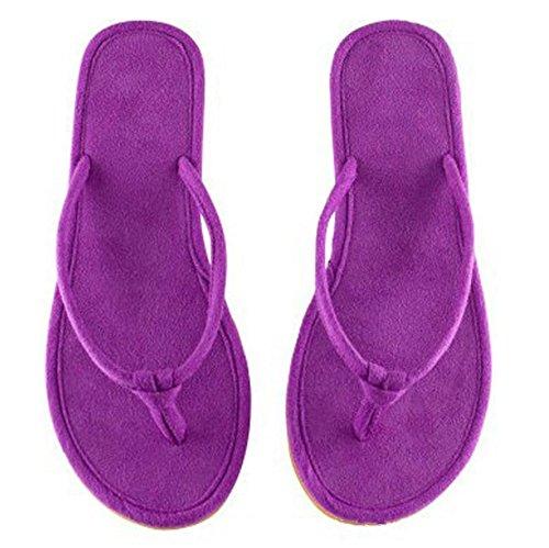 mhgao Ladies Slip casa zapatillas de ocio zapatillas de casa morado