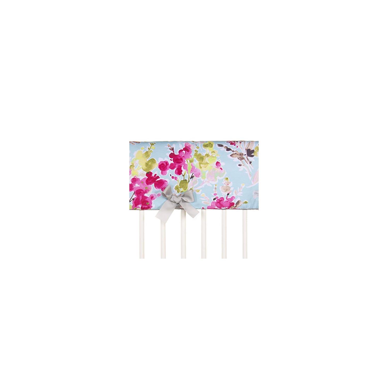 Glenna Jean Cherry Blossom Convertible Crib Rail Protector – Long (Individual)