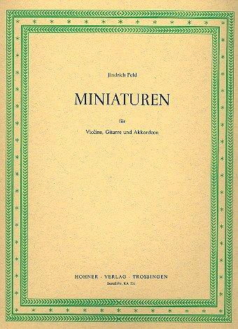 Miniaturas: fà Œ r Violín, Guitarra y acordeón Voces: Jindrich ...