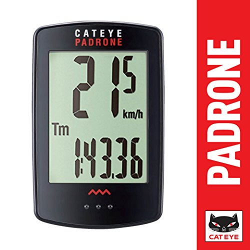 CAT EYE - Padrone Wireless Bike Computer, Black (Best Bike Computer For Mountain Biking)