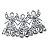 Winter Jewelry Ornaments Christmas Gift Angel Brooch Angel Wings Pin for Women Mom
