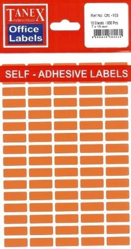 48 x 80 mm 30 Etiketten TANEX OFC-123 Vielzweck Etiketten farbig orange
