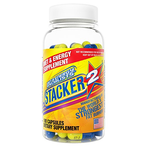 Stacker 2 Ephedra Free | World's Strongest Fat Burner- Burn Body Fat, Boost Energy & Kickstart Metabolism (100 Count Bottle)