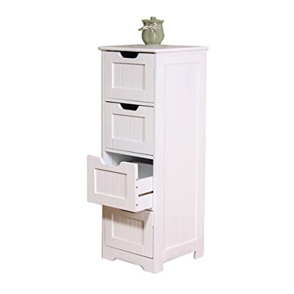 Amazon.com: Cabinets Bathroom four-tier locker living room storage ...