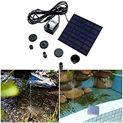 LiPing Solar Water Fountain for Bird bath, Solar Fountain Water Pumps Freestanding Submersible for Small Pond,Fish Tank, Patio, Garden Decoration Solar Panel Water Pump Kit, Solar Pond Pump (B)