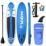 Inflatable Stand Up Paddle Board 10'6' Long & 6' Thick with Premium SUP Accessories & Carry Bag | EXTRA Wide Stance, Bottom Fin for Paddling, Surf Control, Non-Slip Deck | Youth & Adult Standing Boat
