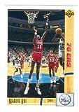 Manute Bol basketball card (Philadelphia 76ers) 1991 Upper Deck #178