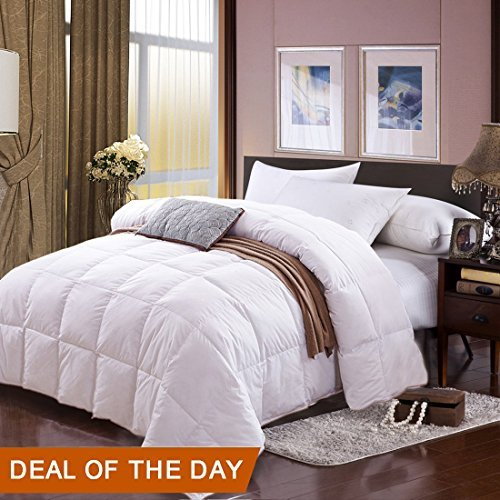 Twin Size White Goose Down Comforter Duvet Insert Luxury Cotton
