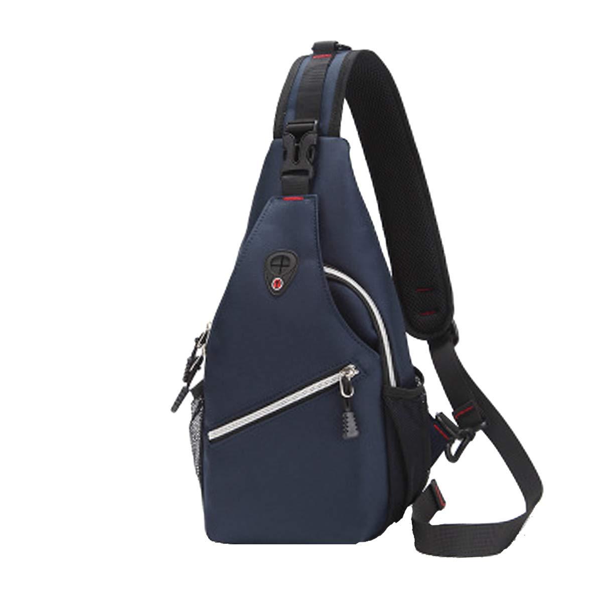 Sac de Poitrine Sling Poitrine Homme Femme Imperm/éable Sacoche /à Bandouliere Sacs a Dos Port/é /épaule Multipurpose Chest Bag Daypacks Homme Sac de Poitrine Bleu