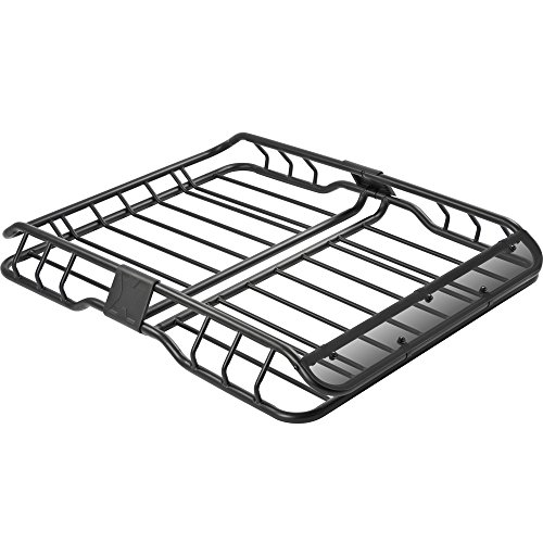 Rage Powersports ER-08208S Heavy Duty Vehicle Roof Cargo Basket with Wind Fairing