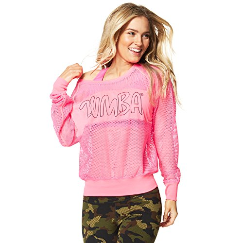 Zumba Womens Glow Long sleeve Pullover