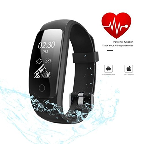 Waterproof Fitness Tracker, Blueseao Heart Rate Monitor Wireless Smart Wristband Bracelet Fitness Watch for Android & IOS US STOCK by Blueseao