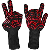 BBQ Grill Cooking Gloves, LDesign Heat Resistant up to 932℉ Extreme oven mitts Glove Sets for Barbecue, Oven, Smoking and Potholder with Silicone Grips - 1 Pair