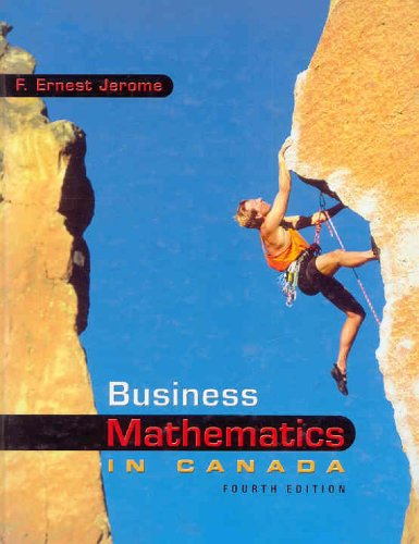 Business Mathematics in Canada w/ Student CD-ROM