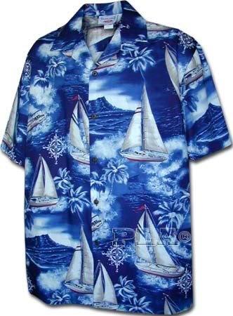 [해외]태평양 전설 하와이안 셔츠 요트/Pacific Legend Hawaiian Shirts Sailboats
