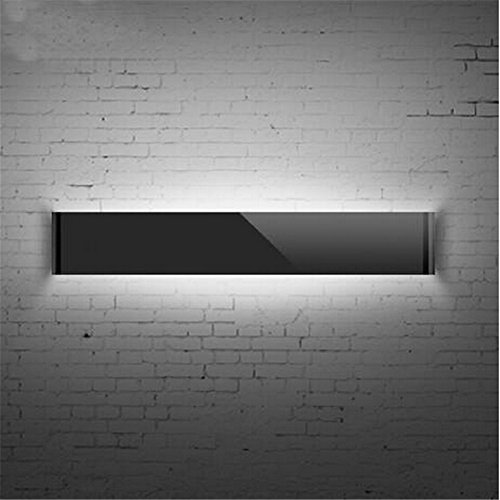 Goodia High Power Super Bright LED Modern 16.14Inch 14W Acrylic LED Wall Light Make-up Lighting Bedroom Livingroom Under Cabinet Lights Mirror Lamp Cool White (Black)