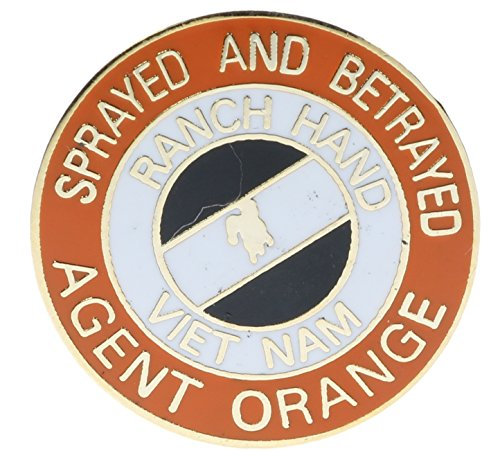 (Sujak Military Items Agent Orange Sprayed and Betrayed Hat or Lapel Pin Hon14679)