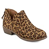 Journee Collection Womens Comfort Sole Tassel Booties Leopard, 7 Regular US