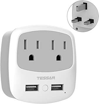 Universal Travel Adapter AU US EU to UK 3 Pin AC Power Plug Adaptor Connector TS