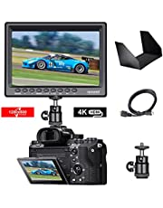 Neewer F100 7-inch 1280x800 IPS Screen Camera Field Monitor with 1 Mini HDMI Cable for BMPCC,AV Cable for FPV, 16:10 or 4:3 Adjustable Display Ratio for Sony Canon Nikon Olympus (Battery NOT included)