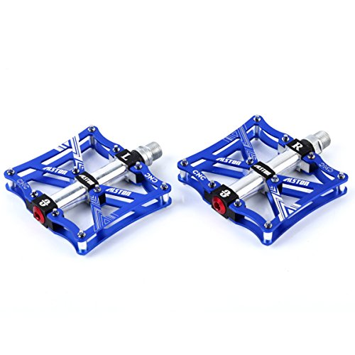 (Alston Bike Pedal Platorm, Injection Magnesium CNC Machined Body, CR-MO Material 9/16