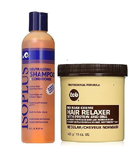 - TCB No Base Creme Hair Relaxer, Regular, 15oz +Isoplus Neutralizing Shampoo Conditioner 8oz