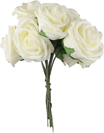 Bouquet Sposa Unica Rosa.Bibabo25 10 Pz 1 Bouquet Di Rose Fiore Artificiale Mazzo Da Sposa