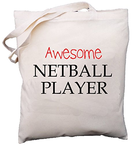 Netball Player Shoulder Bag Natural Gift Cream Cotton Awesome aqZxUdwSU