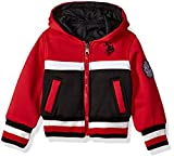 US Polo Association Toddler Boys' Fashion Outerwear Jacket, UB79-Fleece Reversible-Red, 2T