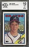 #9: 1988 topps #779 TOM GLAVINE atlanta braves rookie card BGS BCCG 10 graded card