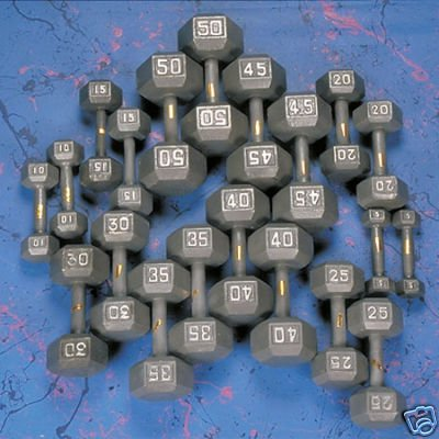 2-tier 60'' Dumbbell Rack w/ Hex Dumbbells by Ader Sporting Goods (Image #1)'