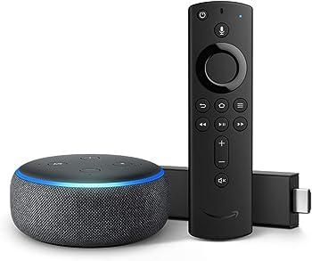Amazon Fire TV Stick 4K with Alexa Remote  + Echo Dot (3rd Gen)