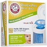 Munchkin Arm & Hammer Diaper Pail Refill Bags - 20 ct