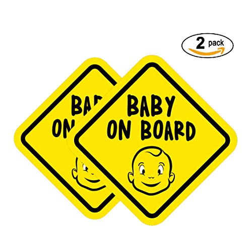 Baby on Board Magnet for car| Baby On Board Sticker Magnet (2 Pack), in Cute Magnet for Baby car Safety by Jubilant Ride