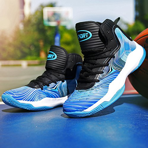 Elaphurus Scarpe Top da 2 Sneaker Uomo Hi Basket blu CARCwnr4Tx