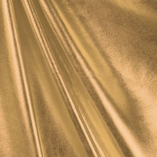 Metallic Foil Lame Spandex Knit Fabric - Gold - 58