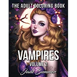 Vampires: Adult Coloring Books (Volume 2)