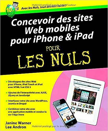 Livre CONCEVOIR DES SITES WEB IPHONE pdf, epub ebook