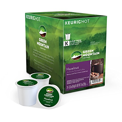 Green Mountain Coffee Keurig Single-Serve K-Cup Pods, Hazelnut Light Roast Coffee, 24 Count